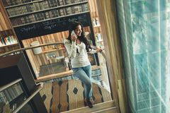 Businesswoman using phone Stock Photo