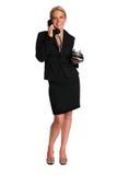 Beautiful Businesswoman Using Retro Phone Royalty Free Stock Photos