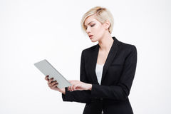 Beautiful businesswoman using tablet computer Royalty Free Stock Photography