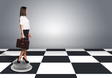 Beautiful businesswoman walking and holding Royalty Free Stock Images
