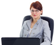 Free Beautiful Businesswoman With Laptop Stock Photography - 18829212