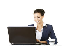 Beautiful businesswoman at work. Royalty Free Stock Photo