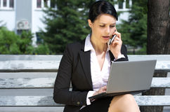 Beautiful businesswoman working Stock Image