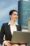 Beautiful businesswoman working Stock Images