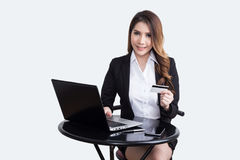 Beautiful  businesswoman working concept Stock Images
