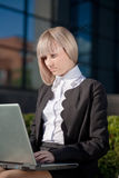 Beautiful businesswoman working on her laptop Royalty Free Stock Photo