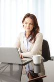 Beautiful businesswoman working on her laptop Royalty Free Stock Photos