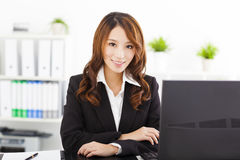 Beautiful  businesswoman working in the office Royalty Free Stock Photo