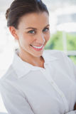 Beautiful businesswoman in the workplace Royalty Free Stock Image