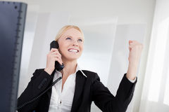 Beautiful businesswomen talking on the phone Stock Photography