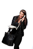 Beautiful businesswomen talking on the phone in the office Stock Photography