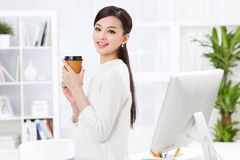 A beautiful businnes woman Royalty Free Stock Photography