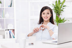 A beautiful businnes woman Royalty Free Stock Photo