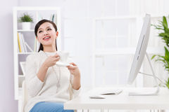 A beautiful businnes woman Stock Photography