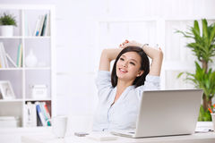 A beautiful businnes woman Royalty Free Stock Photos