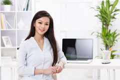 A beautiful businnes woman Royalty Free Stock Image
