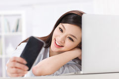 A beautiful businnes woman Stock Images