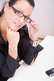 Beautiful bussines woman Royalty Free Stock Photos