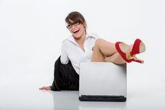 Beautiful bussineswoman Royalty Free Stock Image