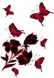 Beautiful butterflies. On a white background Royalty Free Illustration
