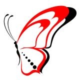 Beautiful butterfly. Bright abstract beautiful butterfly against Royalty Free Illustration