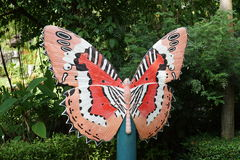 Beautiful Butterfly Decorative In The Garden Royalty Free Stock Images