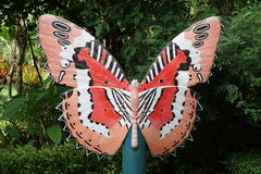 Beautiful Butterfly Decorative In The Garden Stock Image