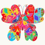Beautiful butterfly with exquisite pattern.  Royalty Free Stock Photo