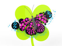 Beautiful butterfly in rendered  look Stock Photo