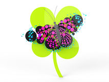 Beautiful butterfly in rendered  look Royalty Free Stock Photo