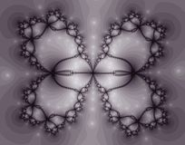 Beautiful Butterfly Shaped Fractal Stock Image