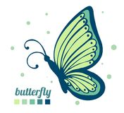 Beautiful butterfly sideways. Element for decoration and design. Vector Stock Photos