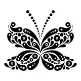 Beautiful butterfly tattoo. Artistic pattern in Stock Photo