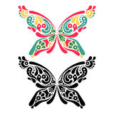 Beautiful butterfly tattoo. Artistic pattern in Stock Photography