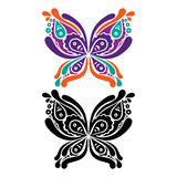Beautiful butterfly tattoo. Artistic pattern in Royalty Free Stock Images