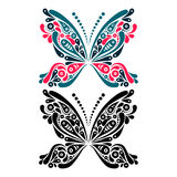 Beautiful butterfly tattoo. Artistic pattern in Stock Images