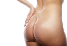 Beautiful buttocks of a nude woman. Stock Images