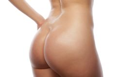 Beautiful buttocks of a nude woman Royalty Free Stock Photo