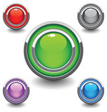Beautiful buttons Stock Images