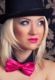 Beautiful cabaret woman Stock Photography