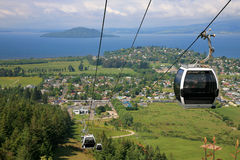Beautiful cable car view Royalty Free Stock Images
