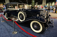 Beautiful Cadillac Phaeton. Photo of 1931 vintage cadillac phaeton luxury car at the washington dc auto show on 1/28/16.  This car features elegant styling and a Royalty Free Stock Images