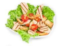Beautiful caesar salad. Royalty Free Stock Images