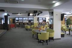 Beautiful cafe in Plaza sanatorium Stock Photo