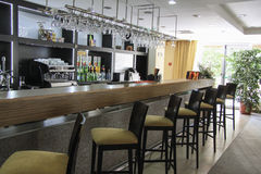 Beautiful cafe in Plaza sanatorium Stock Images