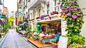 Beautiful cafe on street Royalty Free Stock Photography