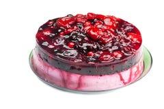 Beautiful cake with berries Stock Image