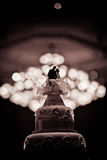 Beautiful Cake decorate for Wedding Ceremony Royalty Free Stock Photography