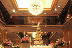 Beautiful cake for wedding reception Stock Photos