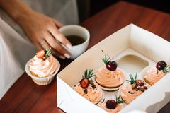 Beautiful cakes stock images
